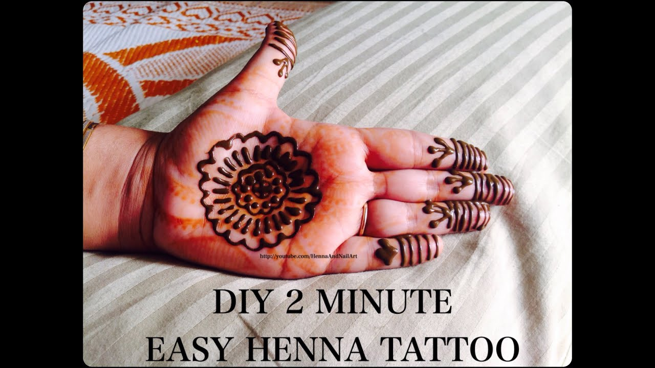Diy Henna Tattoo Ink Without Henna Powder: DIY Easy 2 Minute Mehndi Tattoo
