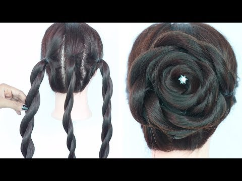 very easy trick for rose juda hairstyle || easy hairstyles || simple hairstyles || hair style girls