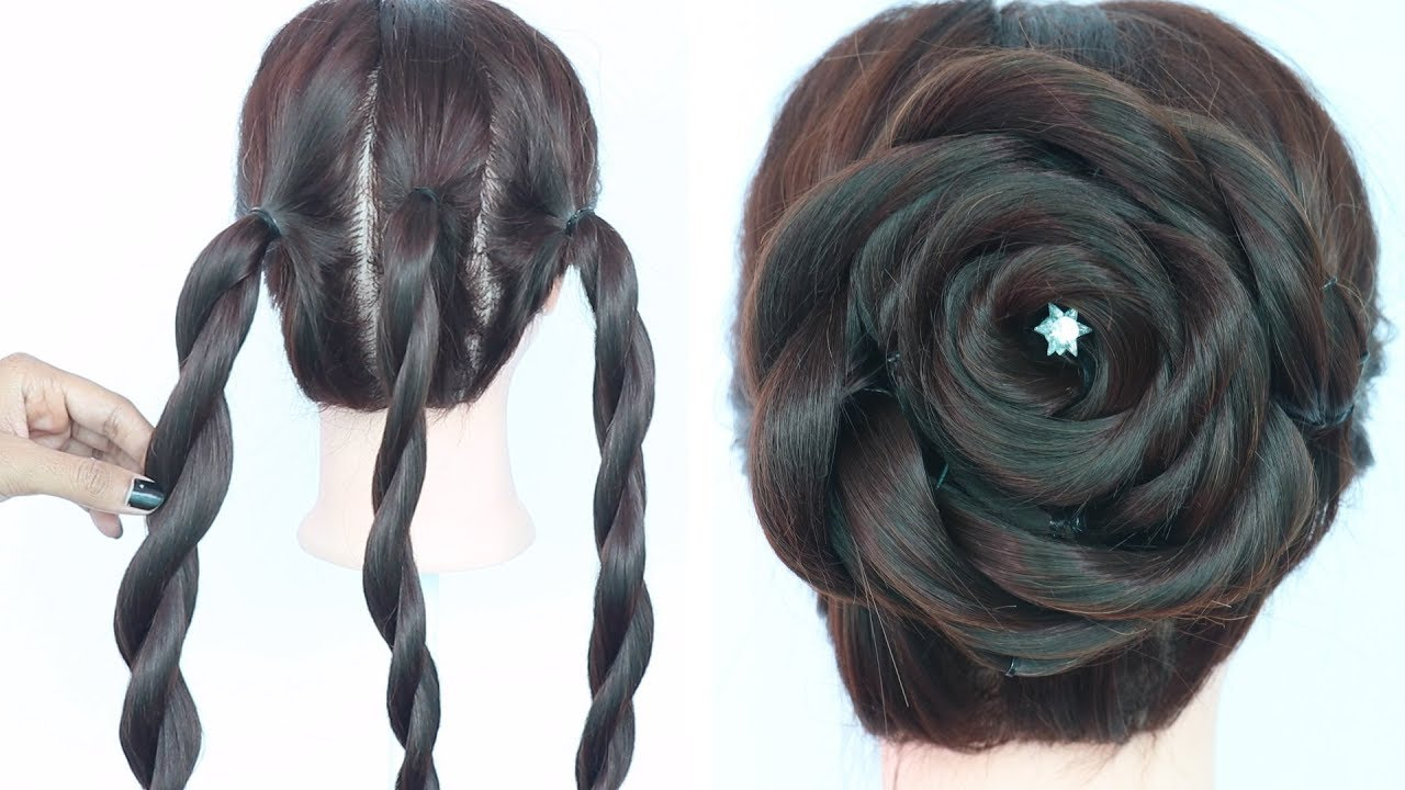 very easy trick for rose juda hairstyle