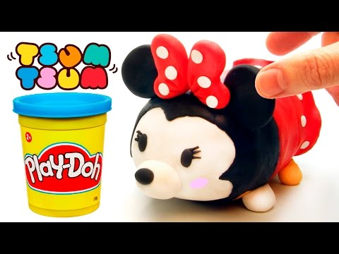 Thumbnail: Minnie Mouse Tsum Tsum play doh stop motion claymation plastilina disney