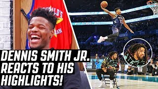 Dennis Smith Jr. REACTS To Dennis Smith Jr. Highlights!!