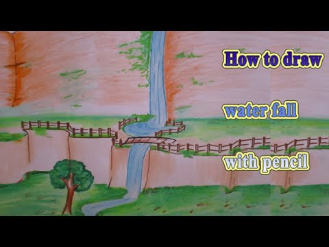 how to draw a fall scene