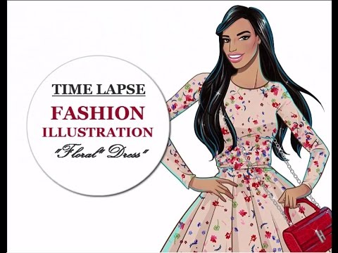 Floral Dress | Fashion Illustration | Speed Drawing