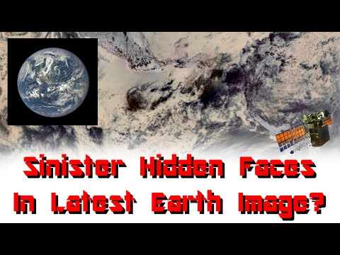 """Hidden Faces in """"EPIC"""" NASA Earth Image & Other Mysterious Anomolies.."""