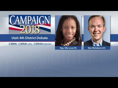 Utah 4th Congressional District Debate Mia Love (R) vs Ben McAdams (D) Oct 15 2018