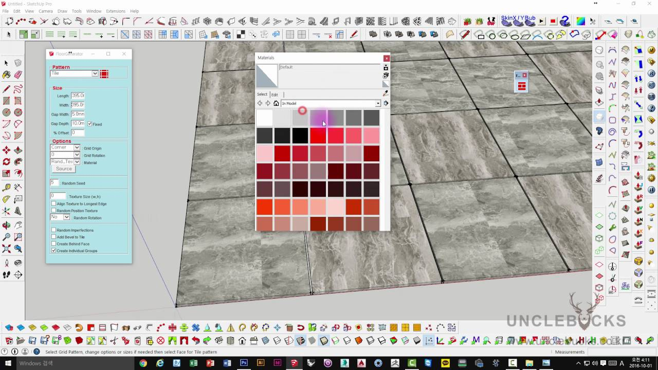 UncleBucks ( Sketchup Ruby Floor Generator ) - YouTube