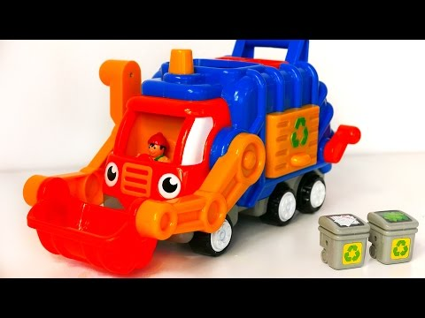 Garbage Truck Toy for Kids!! Playset with Trash Cans