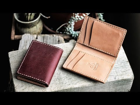 Making A Vertical Leather Card Wallet By Hand