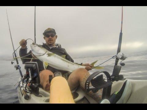 Kayak Fishing for Yellowtail • County Line - Malibu California
