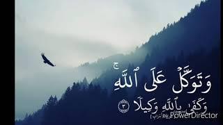 توكل على الله وكفى بالله وكيلا