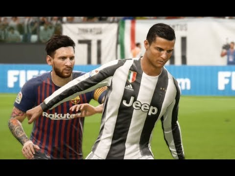C.Ronaldo vs FC Barcelona - Gameplay Nouveaux Maillots 2019 FIFA 18