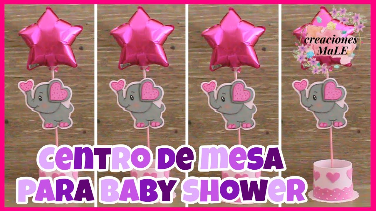 CENTRO DE MESA PARA BABY SHOWER    DIY    ELEFANTE🐘