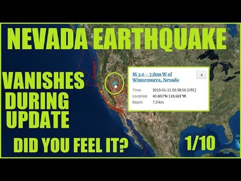 NEVADA Earthquake! HITS & VANISHES from Chart During Live Recording!