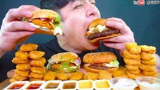 버거킹 맥도날드 신메뉴 통모짜와퍼 아보카도버거 맥너겟 너겟킹 먹방 NEW BURGERKING & MCDONALD