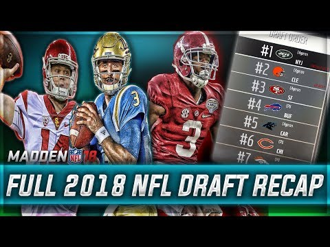 FULL 2018 NFL DRAFT RECAP - REAL NFL PROSPECTS  | Madden 18
