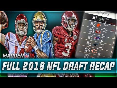 FULL 2018 NFL DRAFT RECAP - REAL NFL PROSPECTS  | Madden 18 Eagles Connected Franchise Mode | Ep. 21
