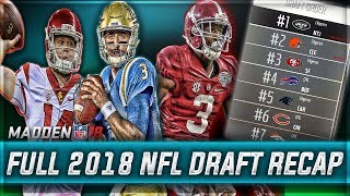 FULL 2018 NFL DRAFT RECAP - REAL NFL PROSPECTS  | Madden 18 Eagles Connected Franchise Mode | Ep. 21 Free HD Video