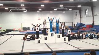 Twisters Gymnastics Meet 2015 Raegan Scheib TRIAD Level 5 thumbnail