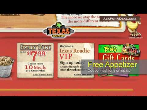 image relating to Texas Roadhouse Coupons Printable identified as Texas Roadhouse Coupon codes - YouTube