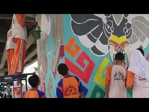 Walikota Herman HN Terima Rekor MURI Lomba Mural 8 Fly Over Pelajar Se-Kota Bandarlampung