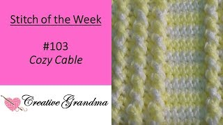 (Stitch Of The Week) Cozy Cable Stitch Pattern