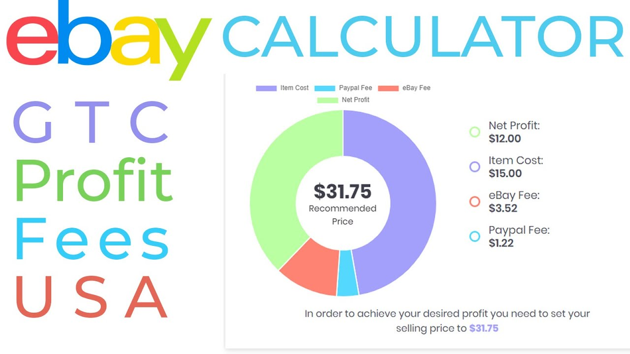 Ebay Fees Calculator Fixed Price Gtc Listings Margin Shipping Upgrades Paypal Usa 3dsellers Youtube