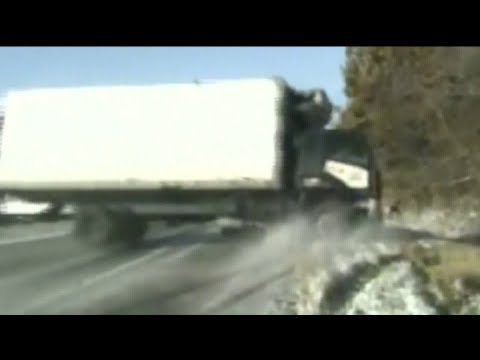Kevin & Liz - OMG Video Trooper Saves Woman from Sliding Truck