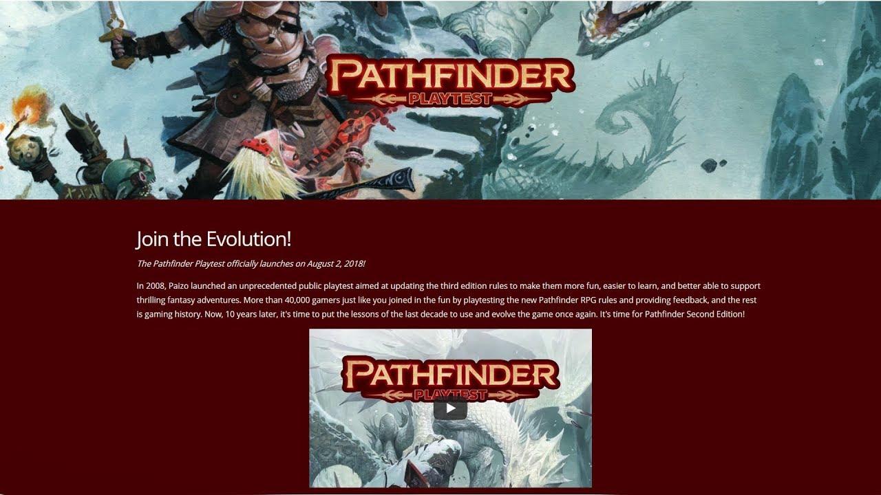 Pathfinder Second Edition (2E) Playtest