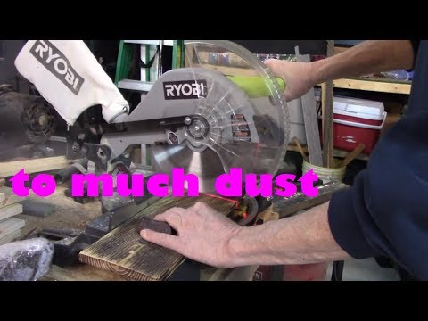 Miter Saw Dust Collection (DIY)