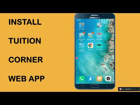 How To Install Web App For Tutors : Tuition Corner
