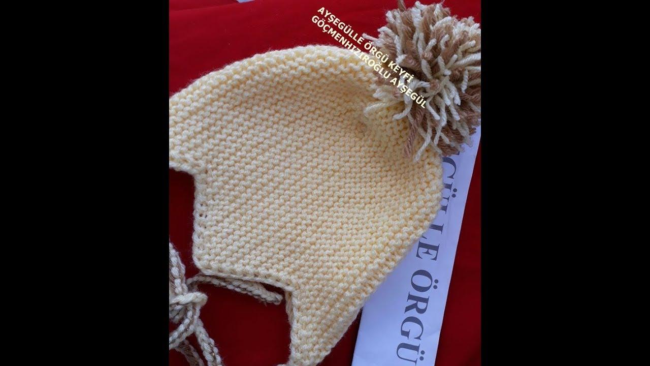 Midilli Bere / Kulaklıklı Şapka  / Dikişsiz Bebek Çocuk Yetişkin Beresi / Earflat Hat