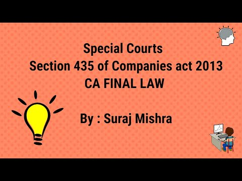 Special courts Section 435 of companies act 2013
