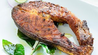 Salmon pan Fry | Indian Style Salmon Fry | How to cook salmon Fish | Salmon Fish Fry