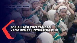 Surabaya, kompas.tv - demi mencegah ancaman virus corona yang sudah masuk ke indonesia, sosialisasi kepada masyarakat dilakukan dengan gencar. salah satu yan...