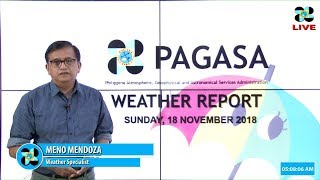 Public Weather Forecast Issued at 5:00 AM November 18, 2018