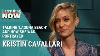 The reality television star brings larry back to beginning when she first got her start on popular show 'laguna beach'.larry king and kristin cavalla...