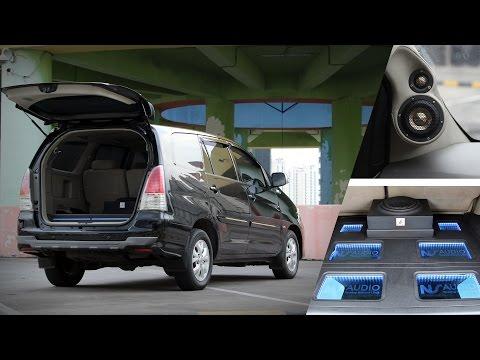 Modifikasi Audio Mobil : Pesona Toyota Innova Team Audible Physics & NS Audio