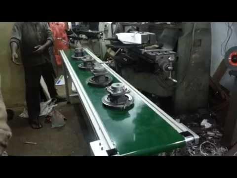 Orange Conveyor Systems - Gravity Roller Conveyor