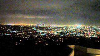 View of Los Angeles City Lights from Griffith Observatory