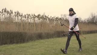 Техника скандинавской ходьбы с палками | обучение часть # 1