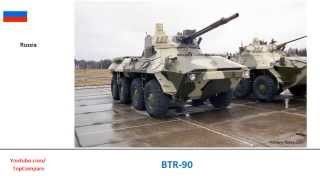 BTR-90 vs VBCI, 8x8 armored fighting vehicles specs comparison