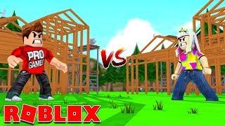 Roblox | Boyfriend Vs Girlfriend Building A House!