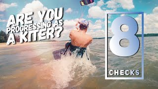 Kiteboarding -Are You Progressing As a Beginner Kiter (8  Water Checks)