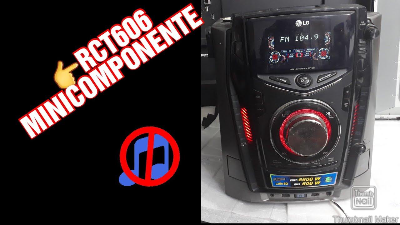 MINICONPONENTE LG NO TIENE AUDIO DIAGNÓSTICAR MODEL.RCT606