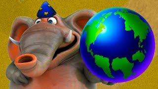 МАЛЕНЬКИЙ СЛОНЕНОК и Кид #22 Веселая игра - Съедобная Планета Tasty Planet Forever на крутилкины
