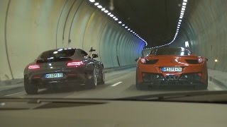 [ONBOARD] Audi R8 V10 w/ Per4mance Exhaust - INSANE Supercar Convoy!