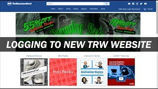 Logging in to the the NEW TRW Website Tutorial