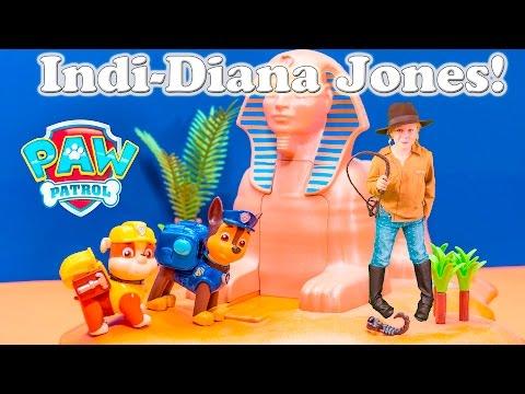 PAW PATROL Nickelodeon Indi Diana Jones Treasure The Assistant Toys Video Parody