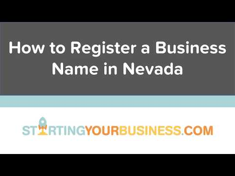How to Register a Business Name in Nevada - Starting a Business in Nevada