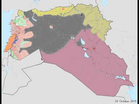 Syria-Iraq Timelapse - June 2015 - January 2016